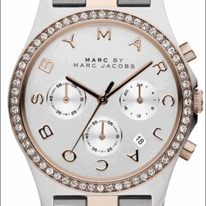 Marc Jacobs Henry Glitz Crystallized Watch MBM3106